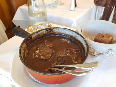 Beef bourguignon - the raison d'être of my friend's yearly pilgrimage to Paris