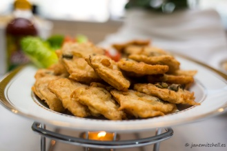 Thank God it's Fry Day! Fried tempeh, served with sweet chili sauce